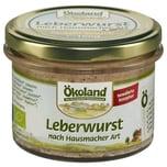 Ökoland Bio Leberwurst nach Hausmacher Art 160g