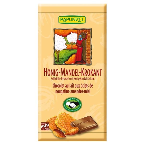 Rapunzel Bio Vollmilch Schokolade Honig-Mandel-Krokant 100g