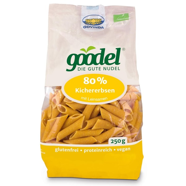 Govinda Bio Goodel Die gute Nudel Kichererbse-Leinsaat 250g