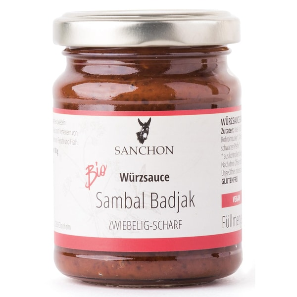 Sanchon Bio Würzsauce Sambal Badjak 125g
