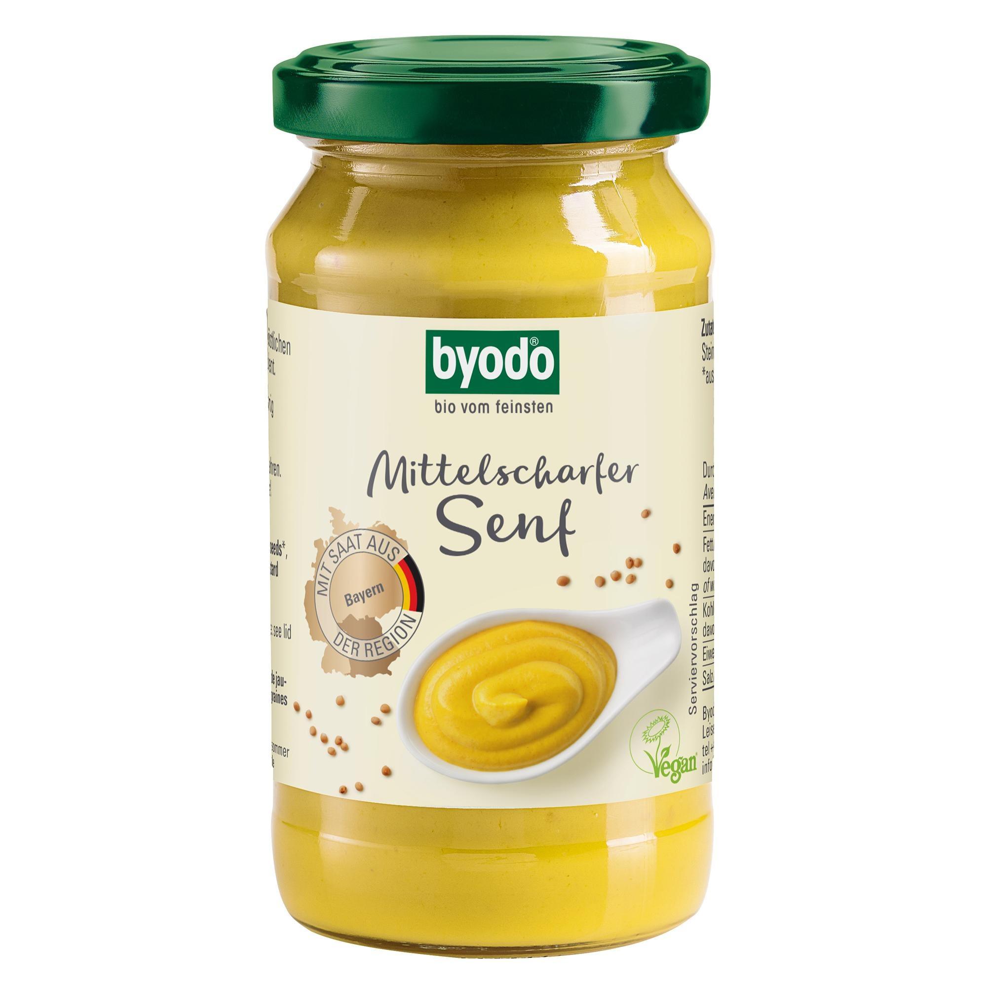 Byodo Bio Mittelscharfer Senf 200ml