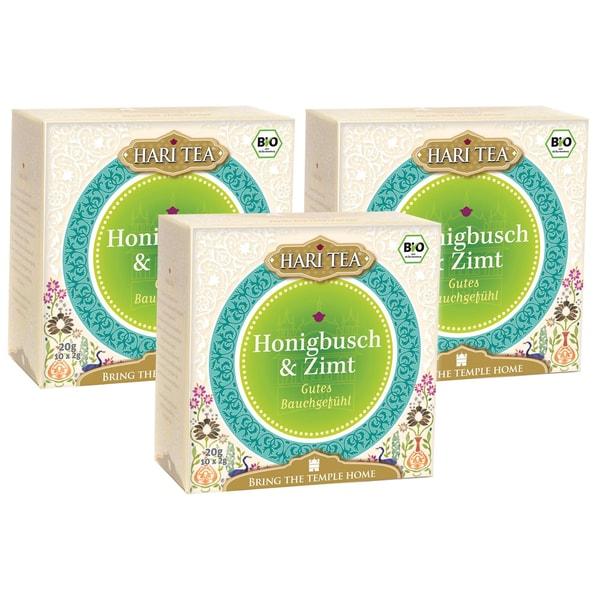 Hari Tea Bio Honigbusch & Zimt Teemischung 3x20g