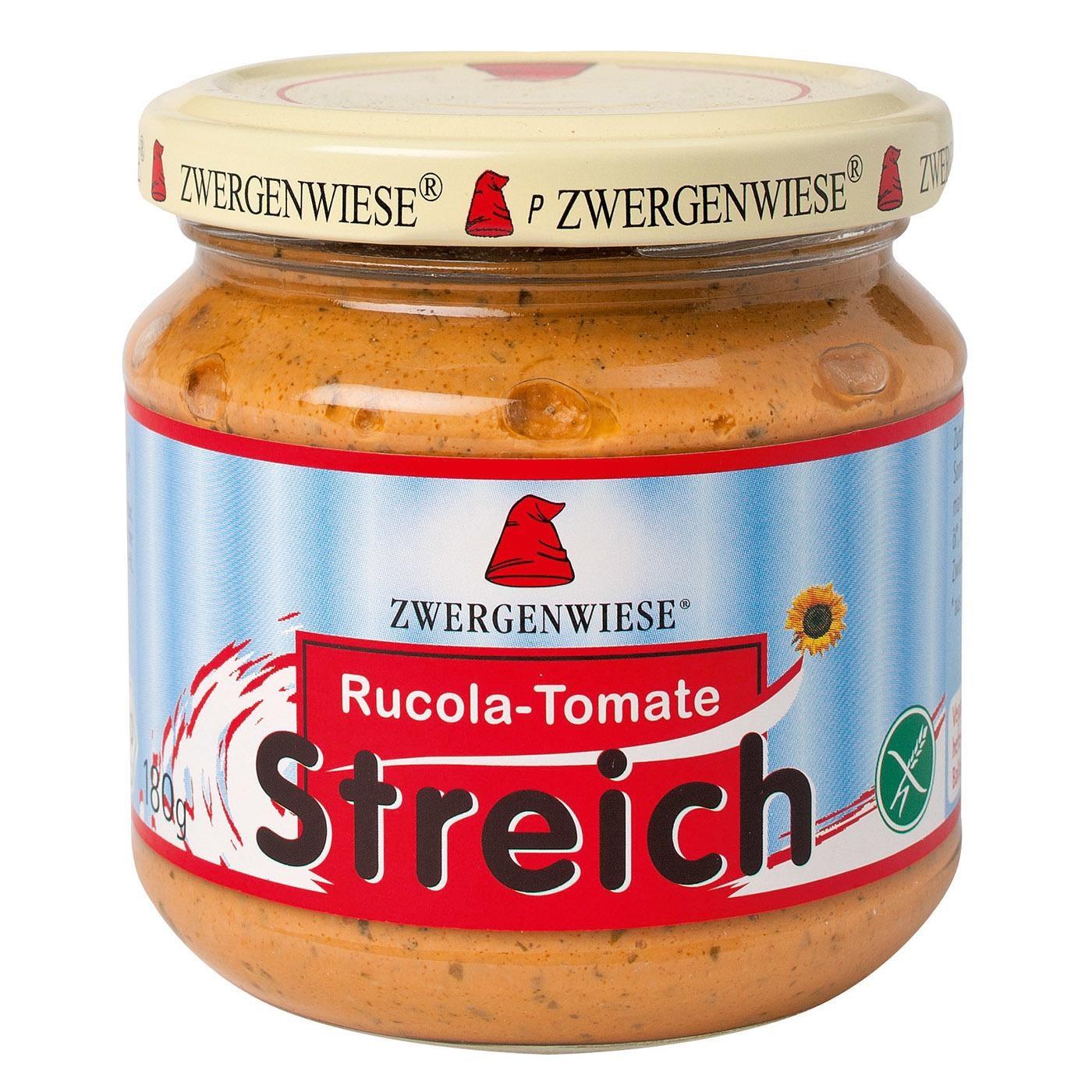 Zwergenwiese Bio Rucola Tomatestreich 180g