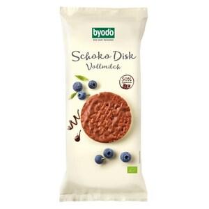 Byodo Bio Schoko Disk Vollmilchschokolade 65g