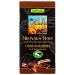 Rapunzel Bio Nirwana Noir Vegan Zartbitter Schokolade mit dunkler Praliné-Füllung 100g