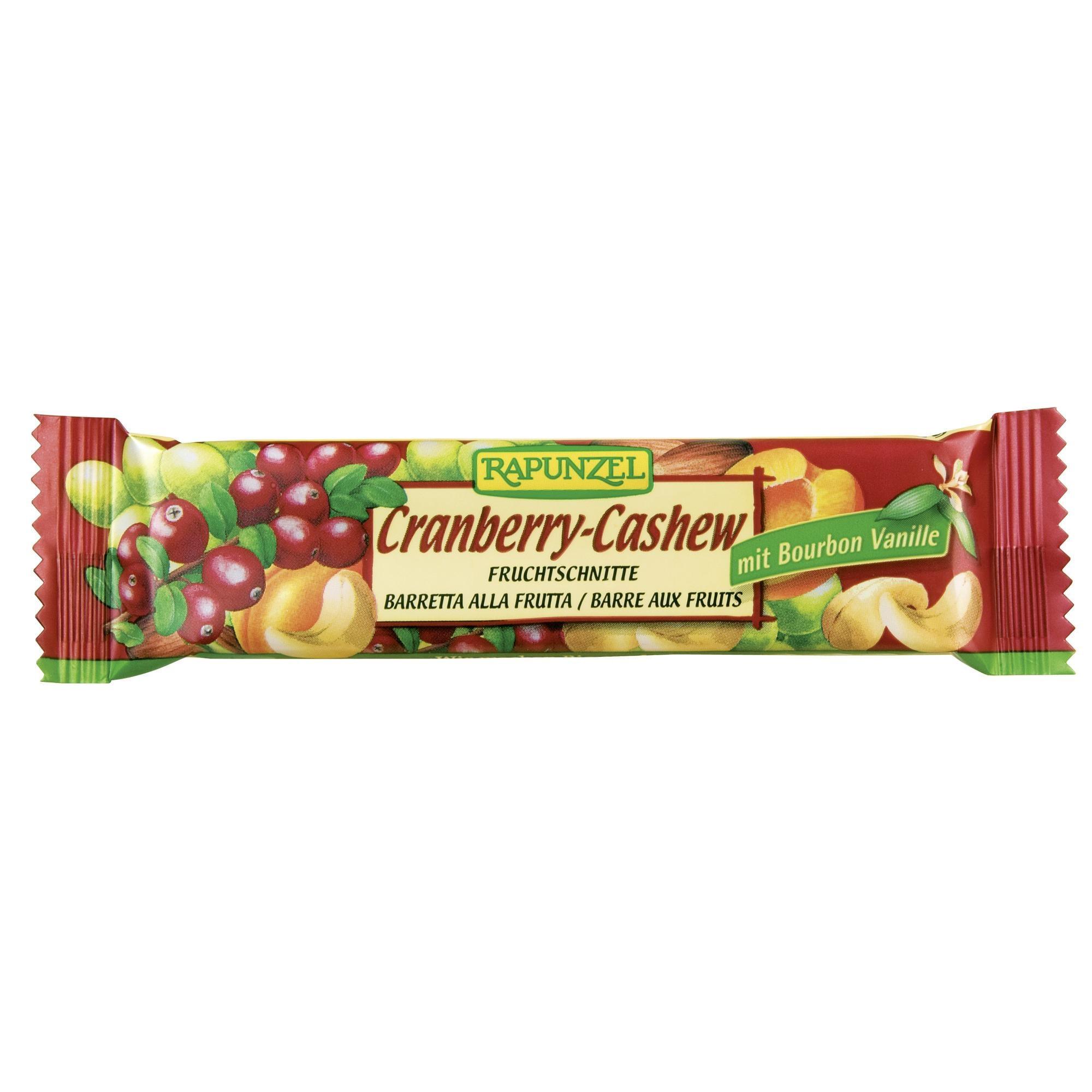 Rapunzel Bio Fruchtschnitte Cranberry-Cashew 40g