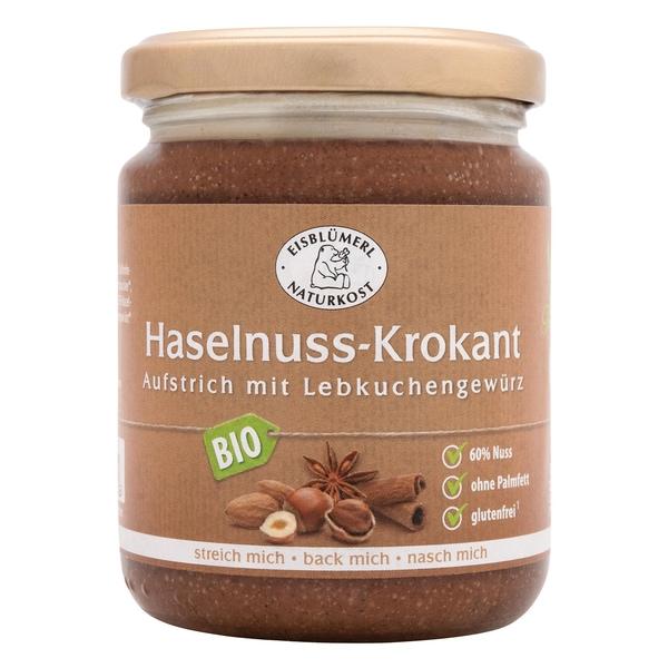 Eisblümerl Bio Haselnuss-Krokant Aufstrich mit Lebküchengewürz 250 g