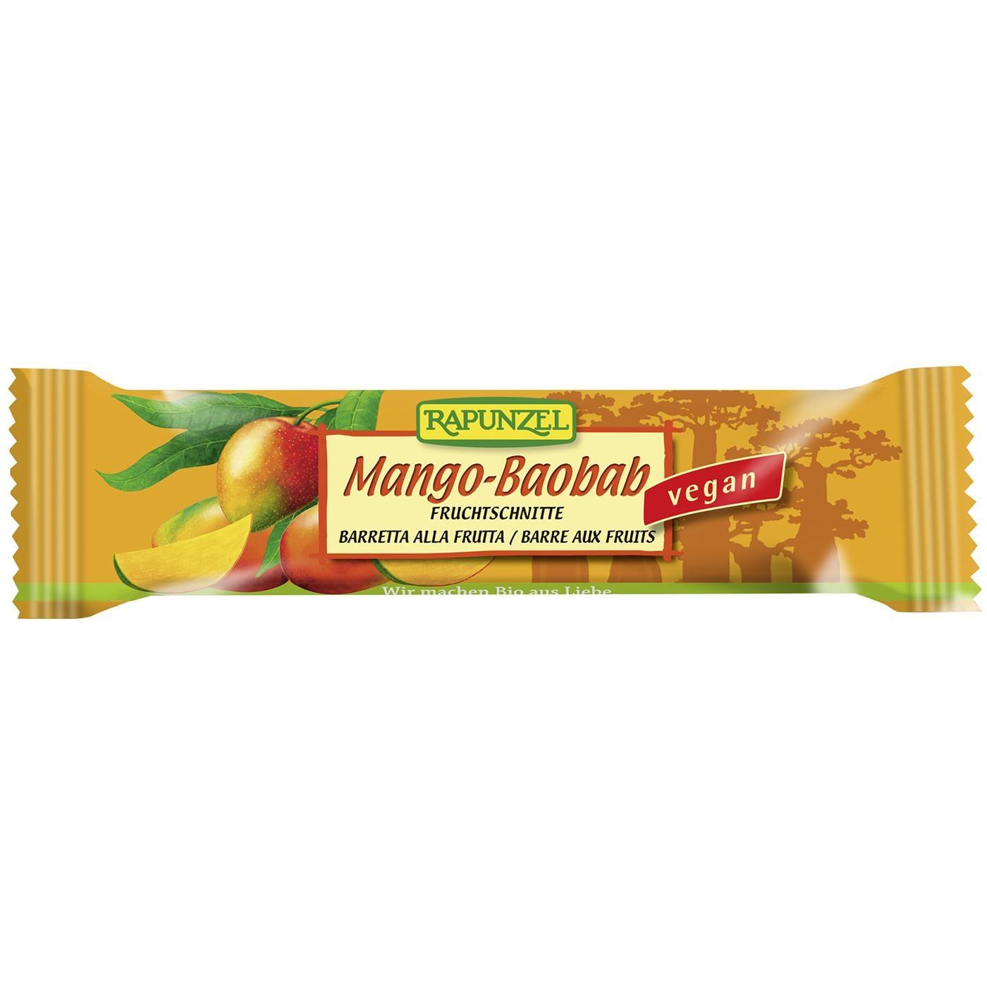 Rapunzel Bio Fruchtschnitte Mango-Baobab 40g