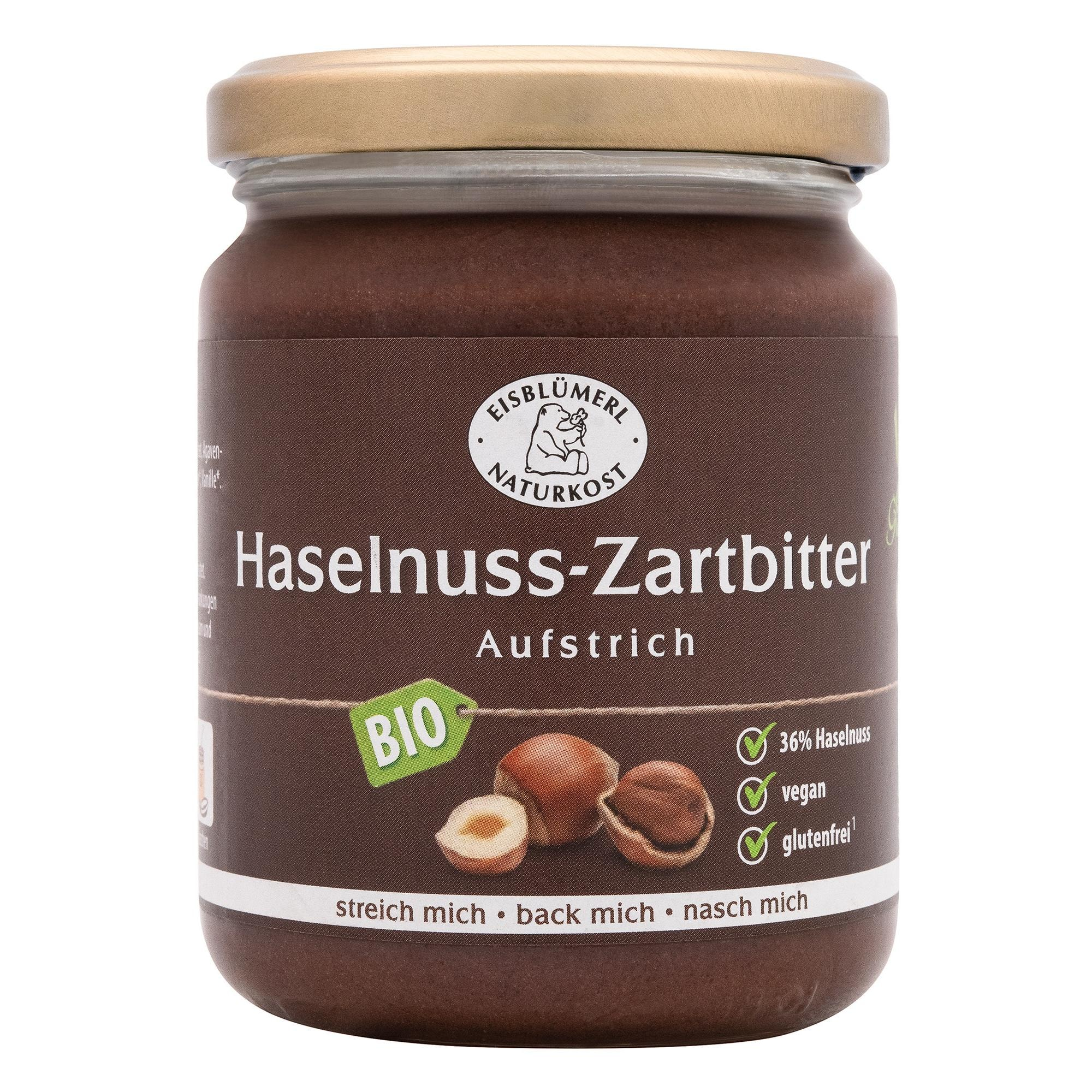 Eisblümerl Bio Zartbitter Aufstrich Haselnuss vegan 250g