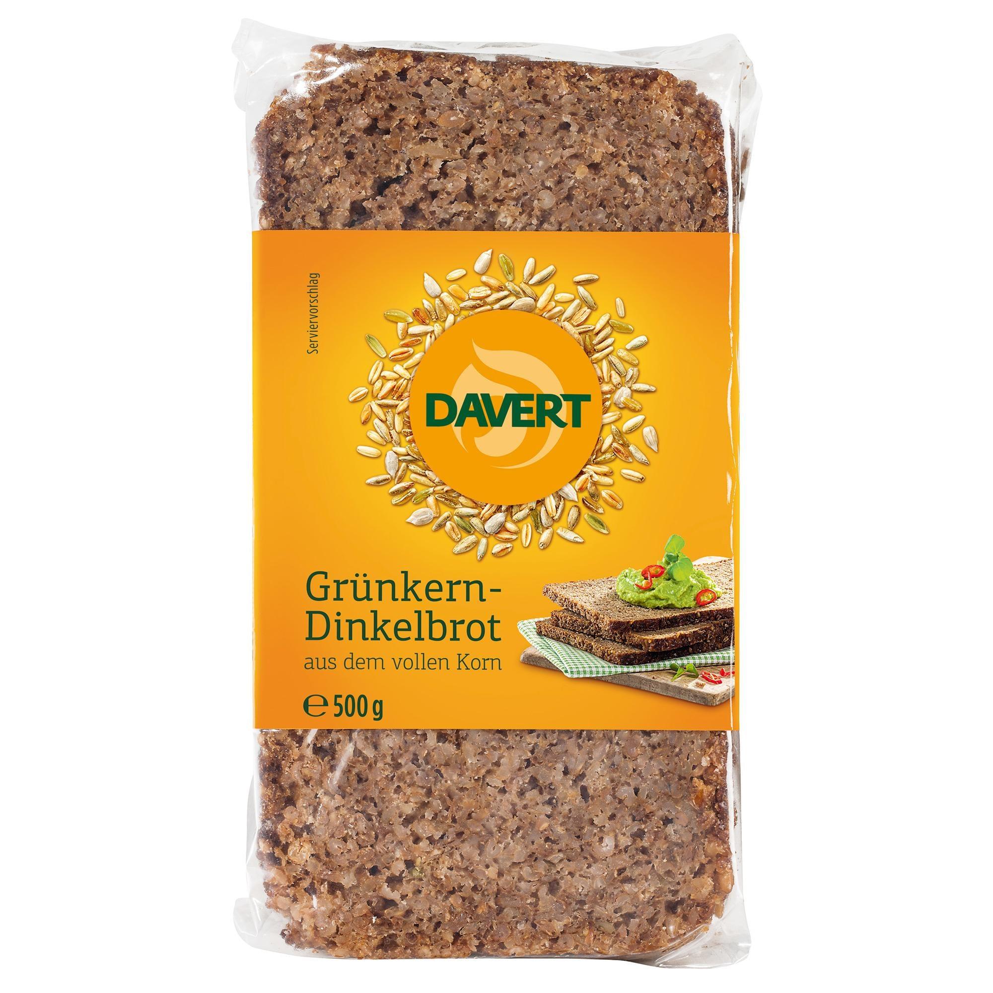 Davert Bio Grünkern-Dinkelbrot aus dem vollen Korn 500g