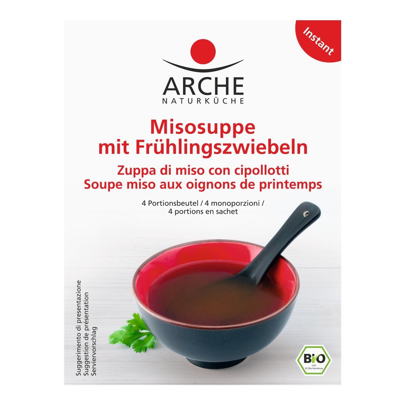 Arche Bio Misosuppe mit Frühlingszwiebeln 4x10g