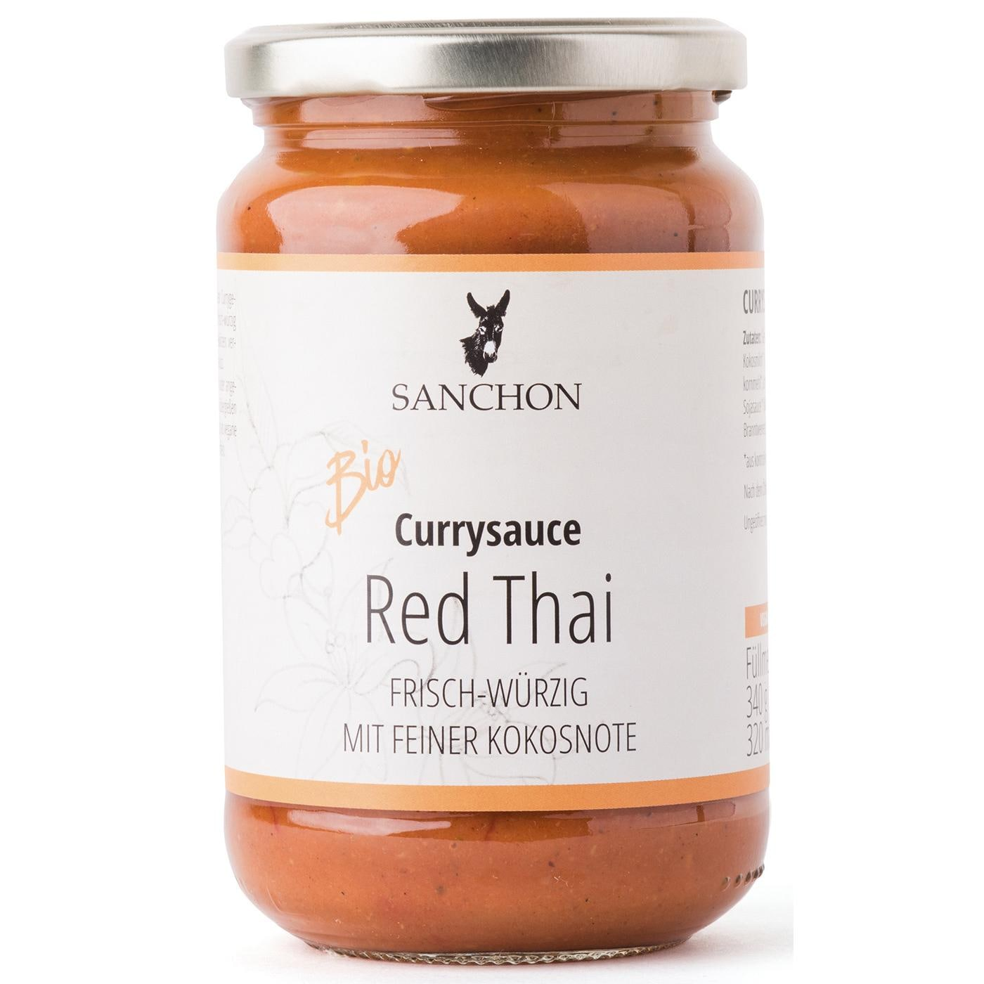 Sanchon Bio Currysauce Red Thai 320ml
