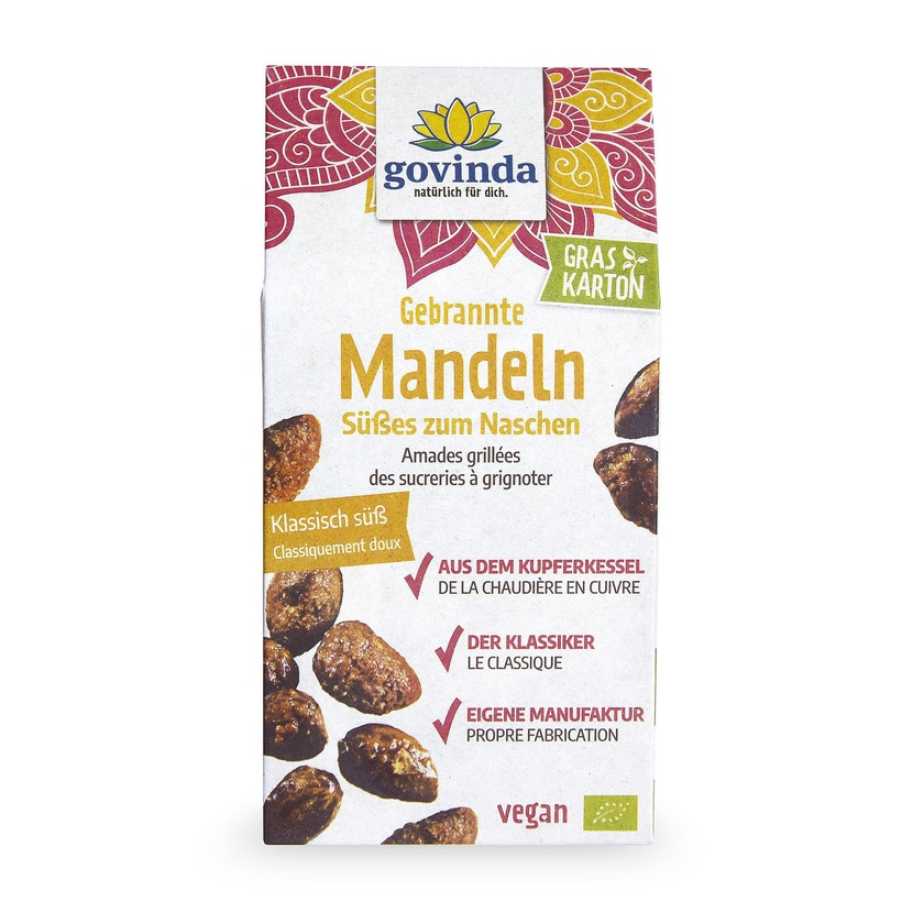 Govinda Bio gebrannte Mandeln 100g
