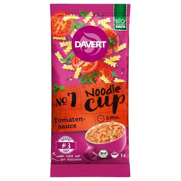Davert Bio Noodle-Cup Tomatensauce 67g