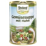 Ökoland Bio Gemüsesuppe mit Huhn 400g