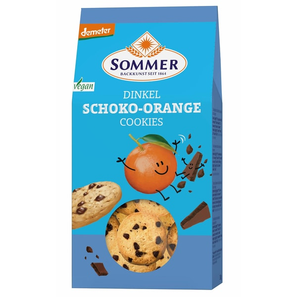 Sommer Bio Dinkel Schoko Orange Cookies 150 g