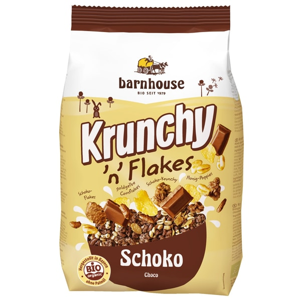 Barnhouse Bio Krunchy 'n' Flakes Schoko 375g