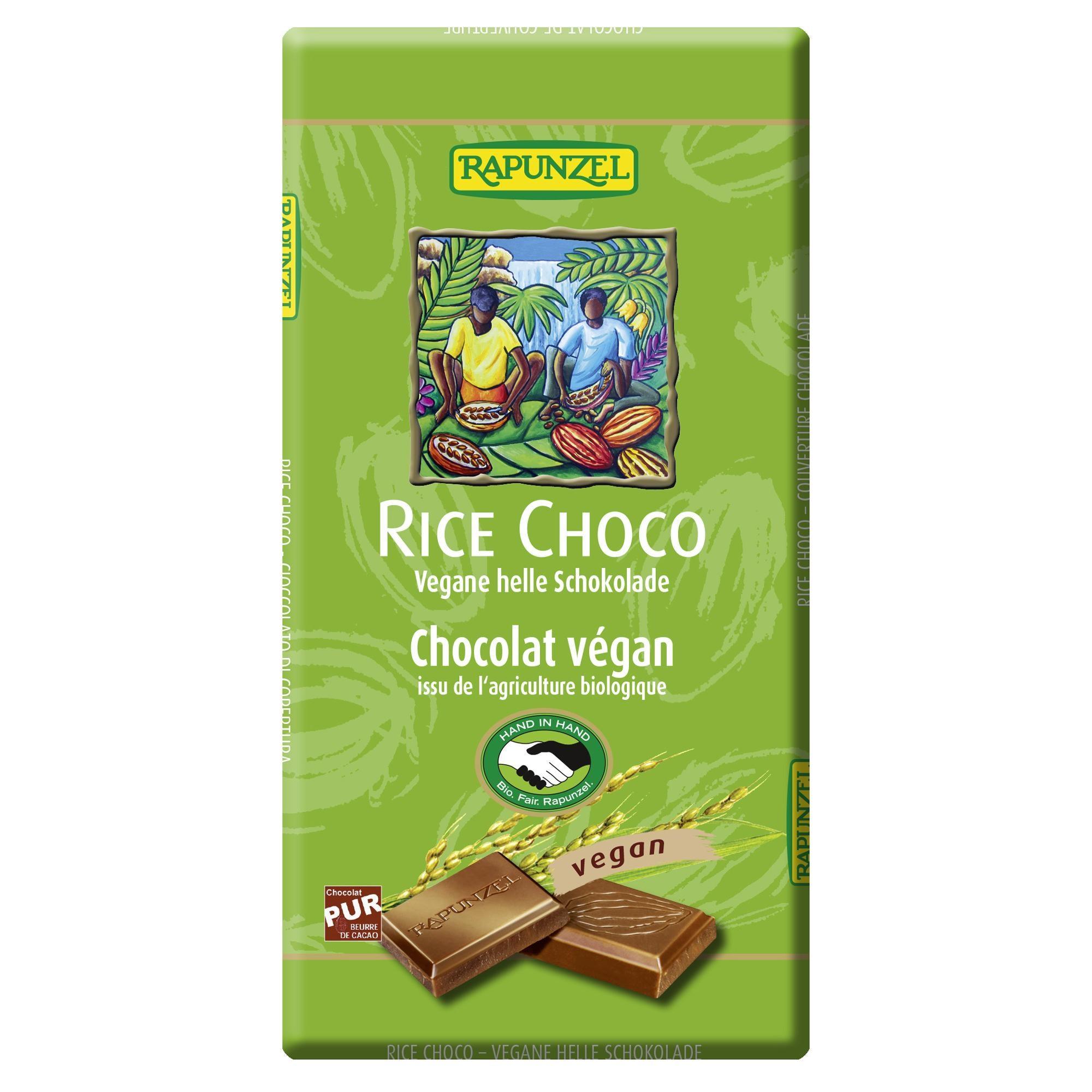 Rapunzel Bio Rice Choco vegane helle Schokolade 100g