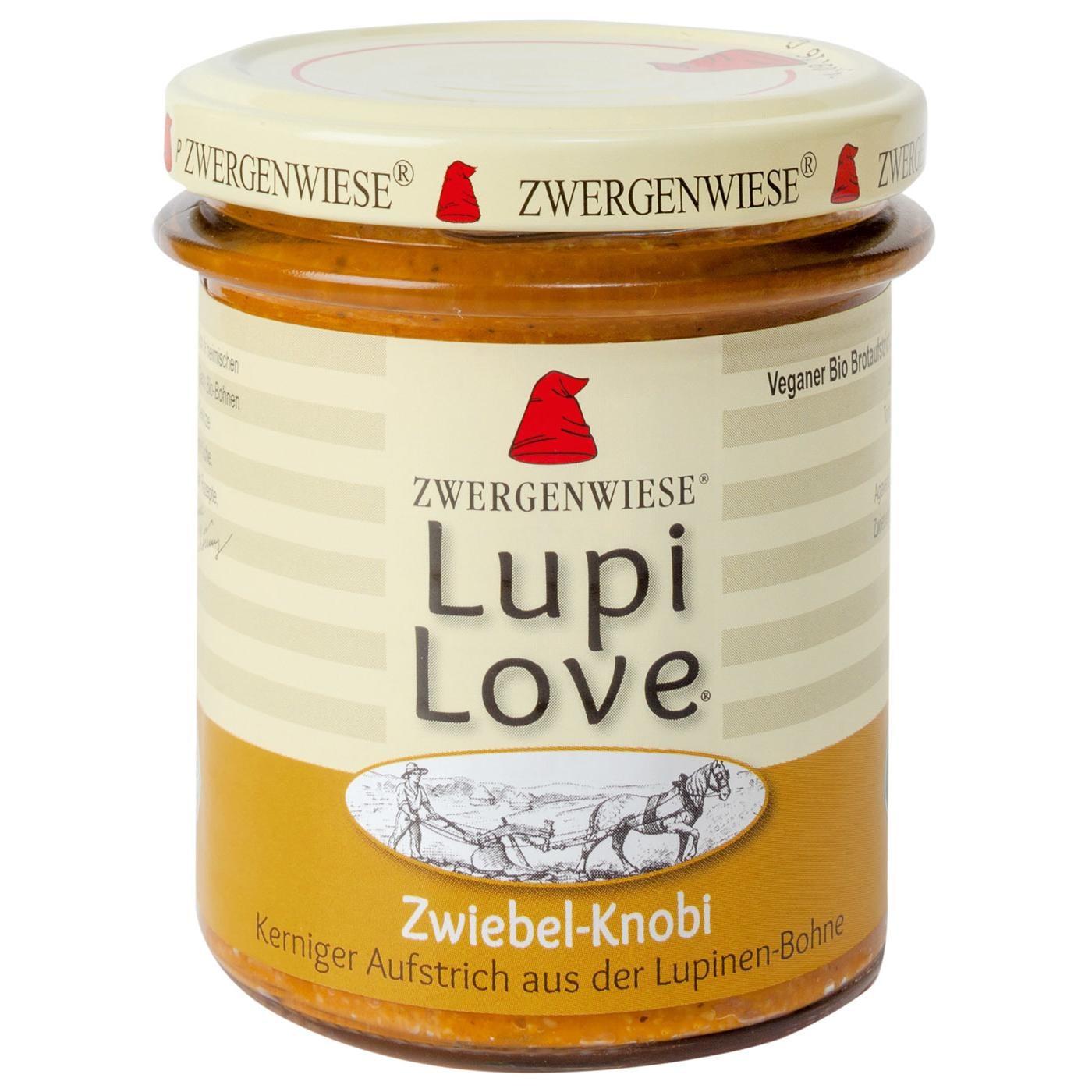 Zwergenwiese Bio Zwiebel-Knobi Aufstrich Lupi Love 165g