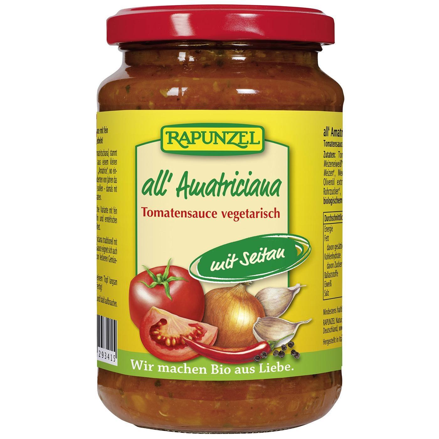 Rapunzel Bio Tomatensauce all Amatriciana mit Seitan 330ml