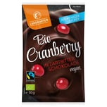 Landgarten Bio Cranberry in Zartbitter-Schokolade 50 g