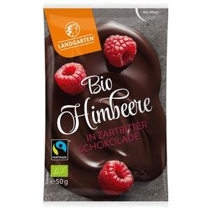 Landgarten Bio Himbeere in Zartbitter-Schokolade 50g