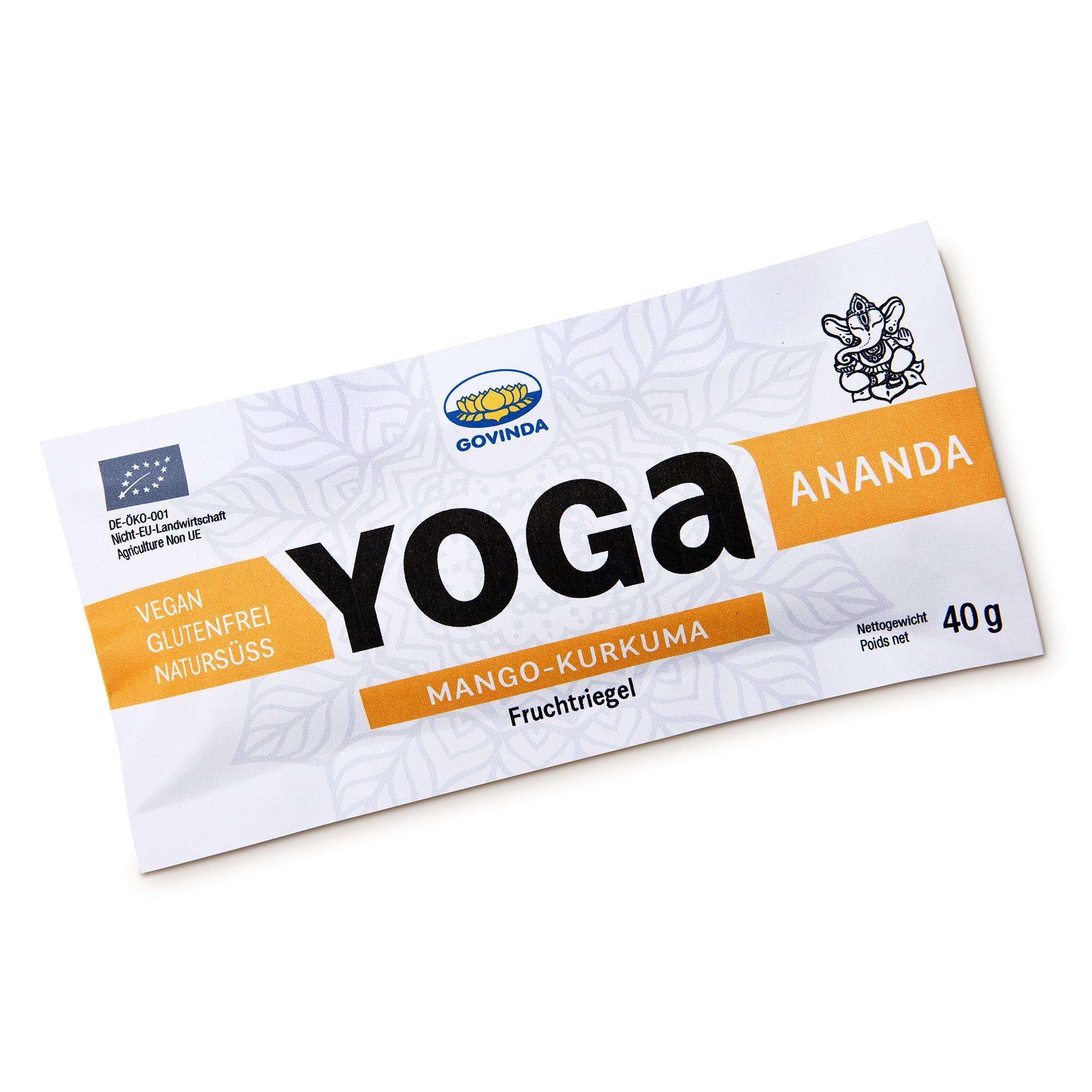 Govinda Bio Yoga Riegel Ananda Mango-Kurkuma 40g