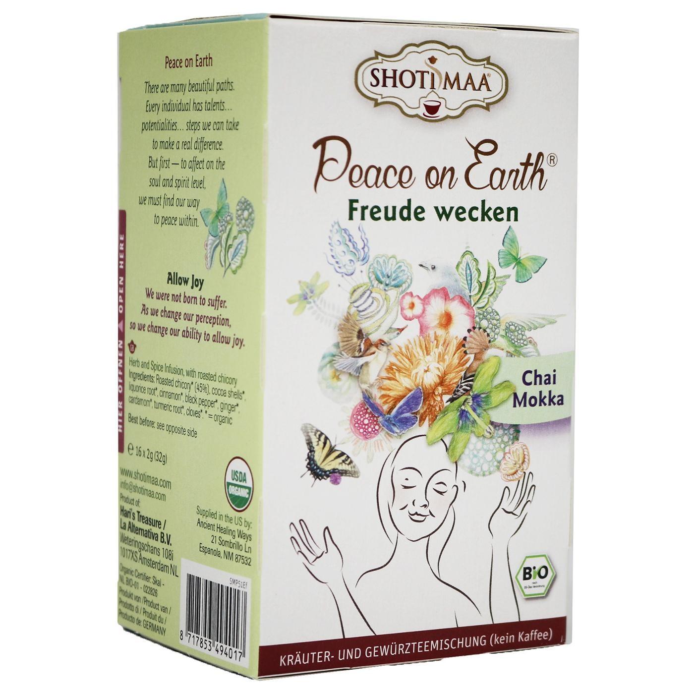 "Hari Tea Bio Peace on Earth Teemischung ""Freude wecken"" Chai Mokka 32g"