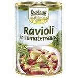 Ökoland Bio Ravioli mit fleischhaltiger Füllung in Tomatensauce 400g
