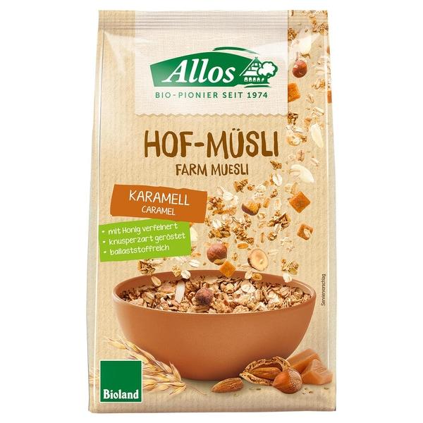 Allos Bio Hof-Müsli Karamell 375g
