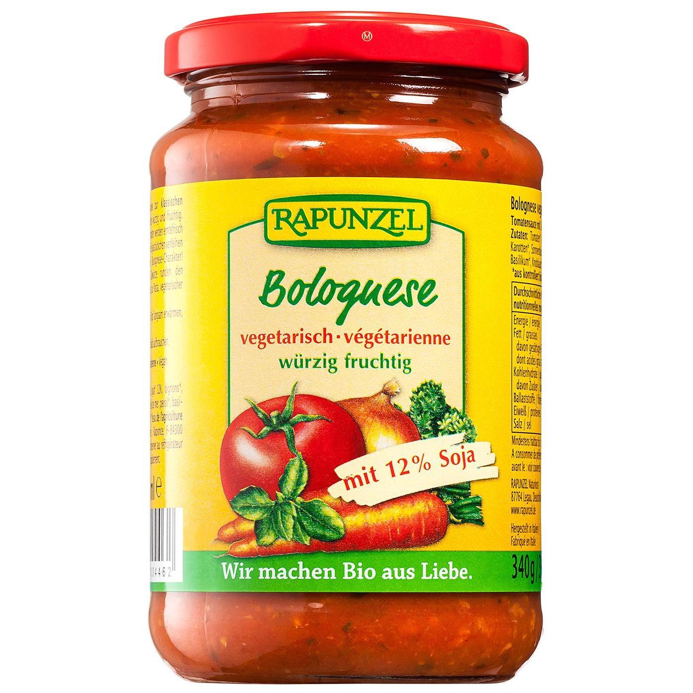 Rapunzel Bio Tomatensauce Bolognese vegetarisch 330ml