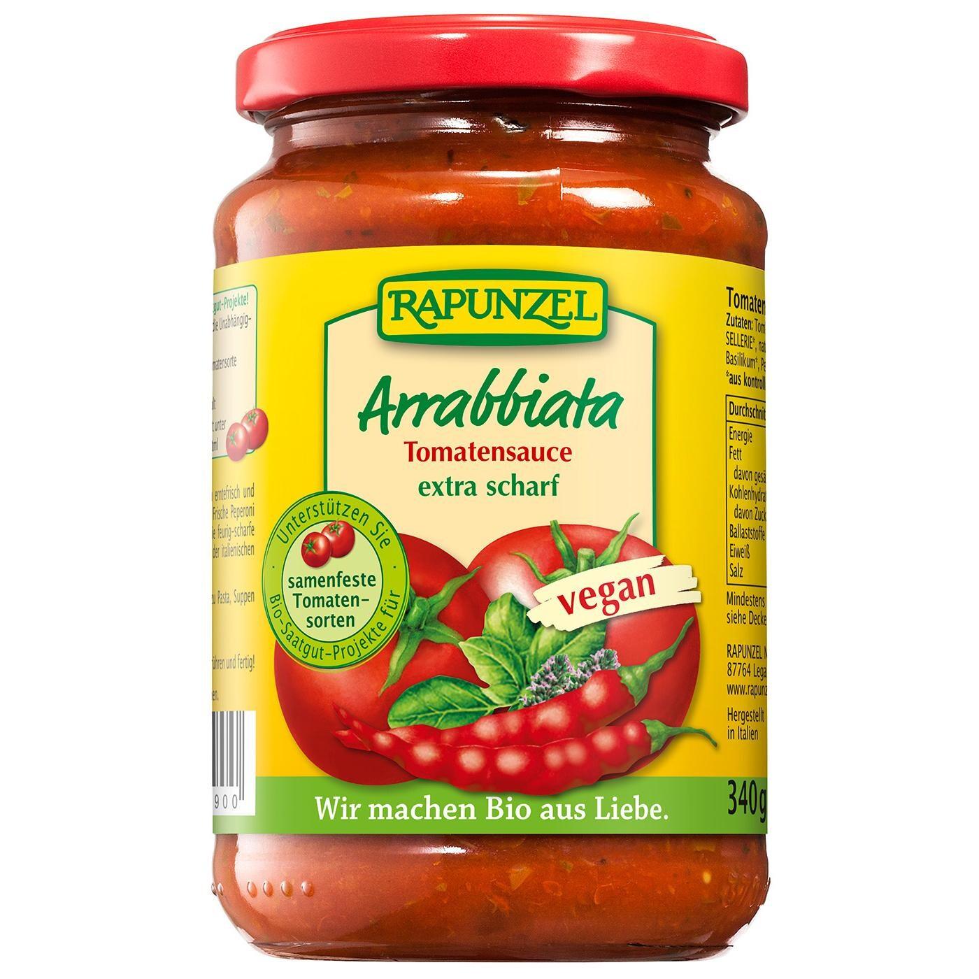 Rapunzel Bio Tomatensauce Arrabbiata 335ml