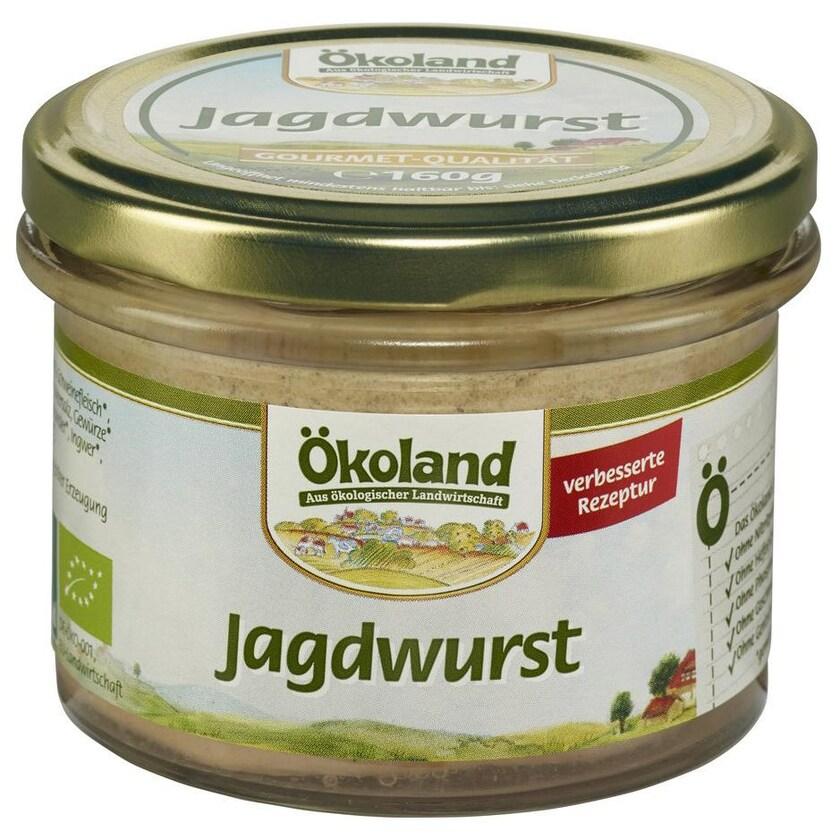 Ökoland Bio Jagdwurst Gourmet-Qualität 160g