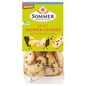 Sommer Bio Dinkel Ingwer Cookies mit Schokolade demeter 150g