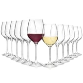 Bormioli Rocco Weingläser aus Kristallglas 520 ml + 400 ml 12er Set