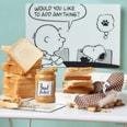 Butlers Peanuts Frühstücksbrettchen Snoopy Sandwich Hütte schwarz-weiss