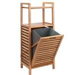 Butlers Big Bamboo Regal mit Wäschekorb natur