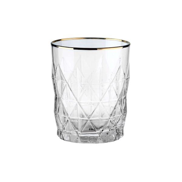 Butlers Atlantis 6x Wasserglas mit Goldrand 345ml