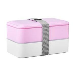 Butlers Snack Pack Lunchbox inkl. Besteck rosa/weiß