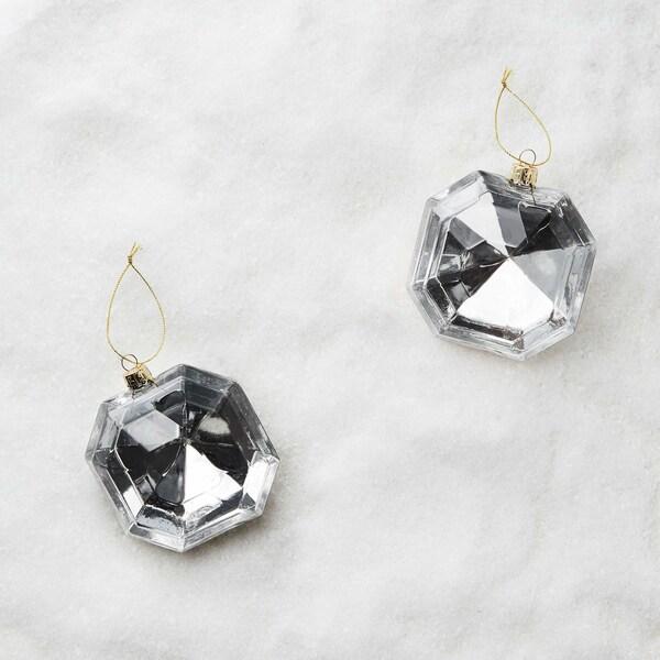 Butlers Hang On 2er-Set Glasanhänger Diamant Ø 8 cm