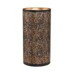 Butlers Luminous Windlicht Punktdesign Höhe 25 cm schwarz-gold
