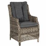 Butlers Granny Sessel mit Sitz- und Rückenkissen natur