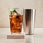 Butlers Boston Shaker Cocktailshaker mit Glas silber