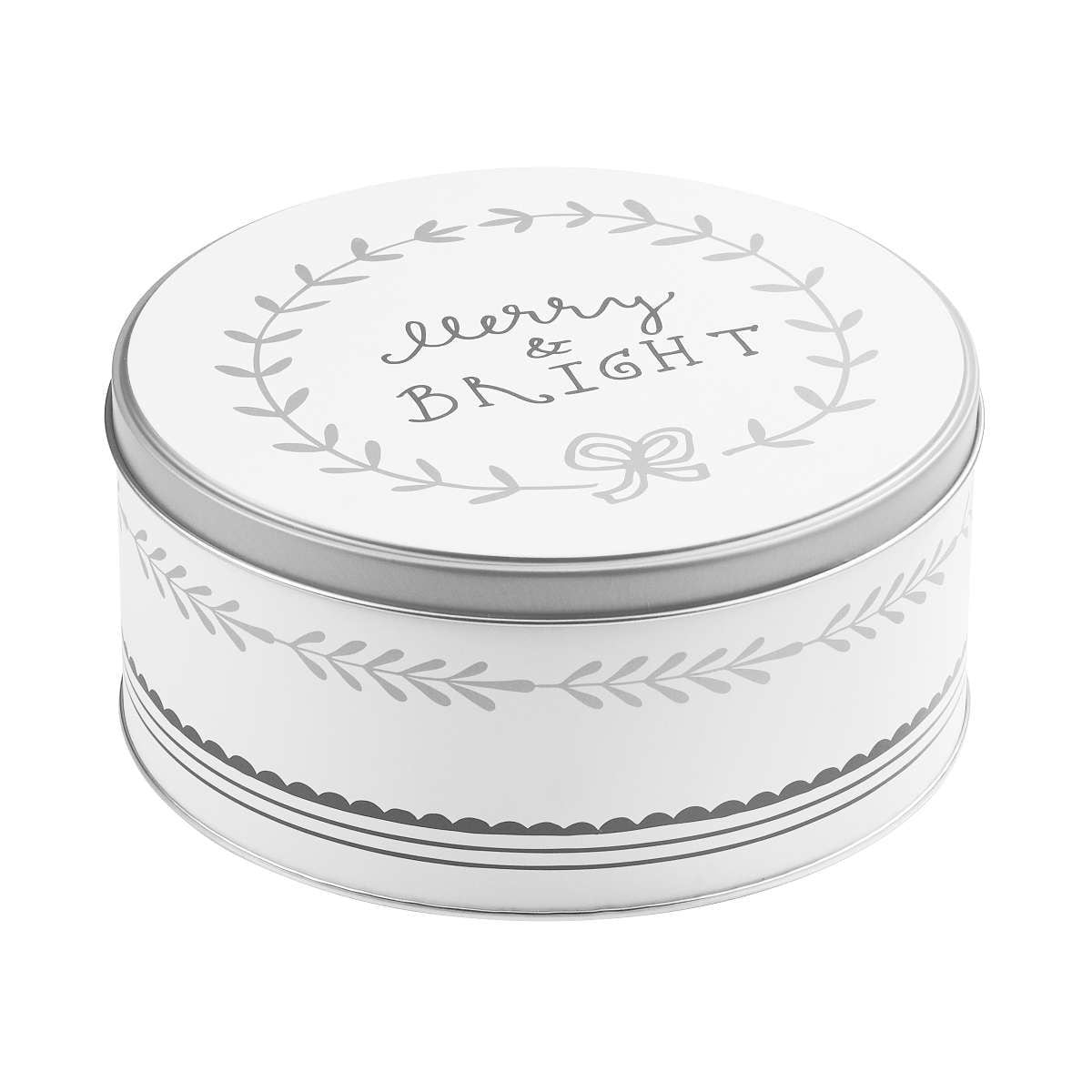 Butlers Cookie Jar Dose Merry & Bright Ø 16,7 cm weiss-silber