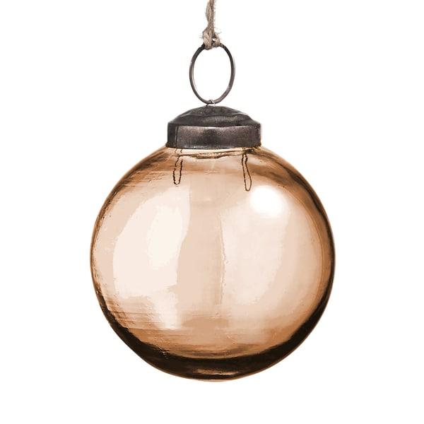 Butlers Hang On 6er-Set Glaskugel Ø 7,5 cm Orange