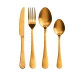 Butlers Baronet Besteck 4er-Set matt gold