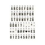 Butlers Blockbuster Extra-Buchstaben für Light Box A7 schwarz-transparent