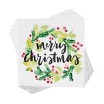 Butlers Après Papierserviette Merry christmas gruen