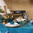 Butlers Golden Twenties Karaffe mit Goldrand 1 l transparent