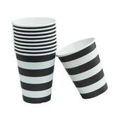 Butlers BLACK & WHITE Pappbecher 300 ml schwarz-weiß